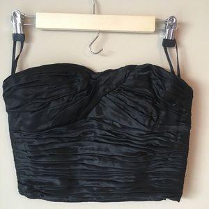 Ungaro Parallele Bustier Top 8 Pleated Corset Silk